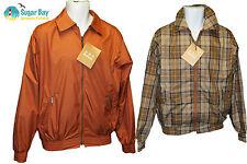 BARBOUR MENS Ayr Reversible Golf Jacket  Orange/Tartan Small AUTHENTIC