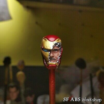 SFABS Avenger Endgame Tony Stark Mark L Battle Damaged 1//12 Scale Head Sculpt