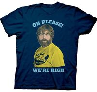 Official The Hangover T-shirt - Oh Please We're Rich -comedy Movie Bradley Coope
