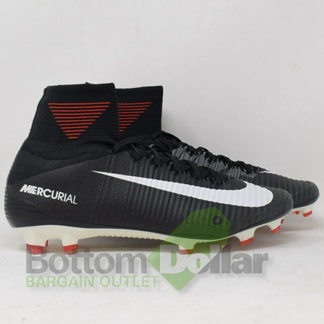 new product 1639c e7a20 Nike Mercurial Superfly 5 V DF Soccer Cleat Black White Men Size 10