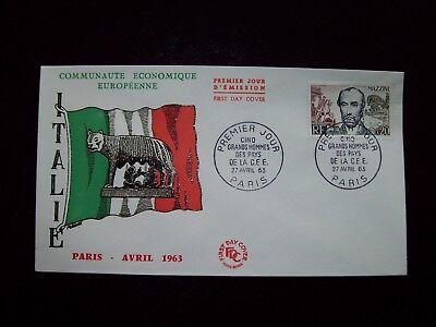 1963_enveloppe 1er Jour_fdc_cÉlÉbritÉs De La Cee-mazzini (italie). Jaarlijkse Koopjesverkoop