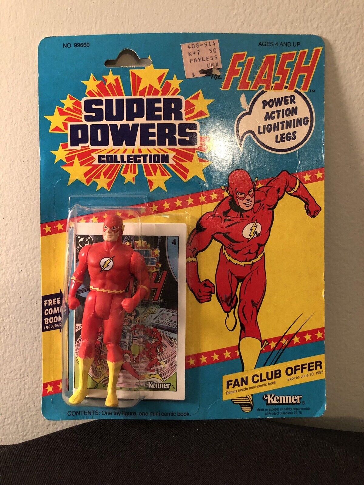 Vintage Original Kenner Super energias Flash 1984  Great Shape  Sealed  12 Back