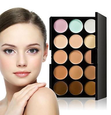 Pro 15 Colors Beauty Pro Face Cream Makeup Concealer Contour Palette Set Kits