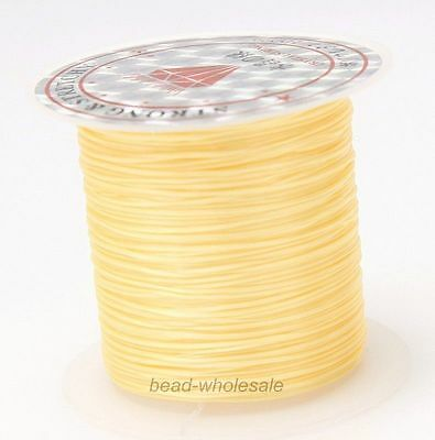 10m Rubber Chinese Knot Satin Macrame Beading Jewelry Rattail Cords 1mm 25Color
