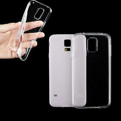 0.3mm Soft Clear Crystal Case Cover TPU Protector for Samsung Galaxy S5 I9600