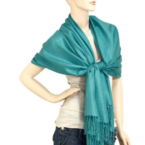 Women/'s Beautiful Solid Neck Head Pashmina Wrap Shawl Scarf Perfect Party Favor