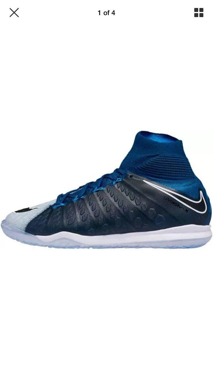 Nike HypervenomX Proximo II DF IC Soccer shoes bluee 852577-404 Men's Size 11