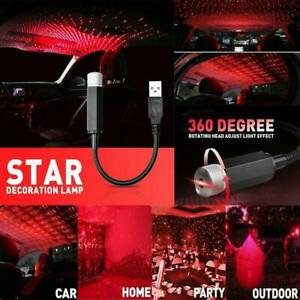 Mini-USB-LED-Car-Atmosphere-Armrest-Box-Lamp-Projector-Light-Interior-Decor-Red