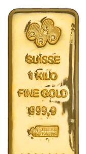 Image Is Loading 1 Kilo Pamp Suisse 9999 Fine Gold Bar