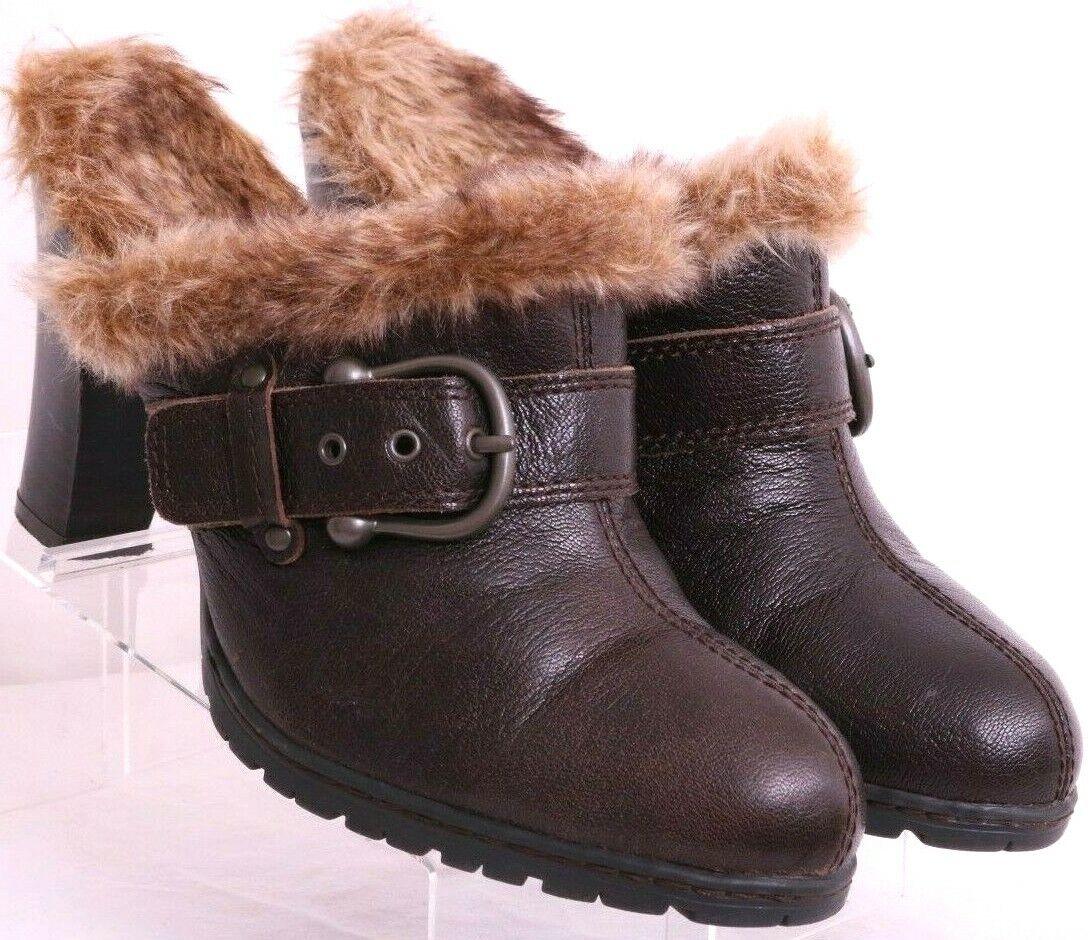 Born BOC BC6387 Split Toe Fur Buckle Comfort Slip-On Mules Shoes Women's US 10