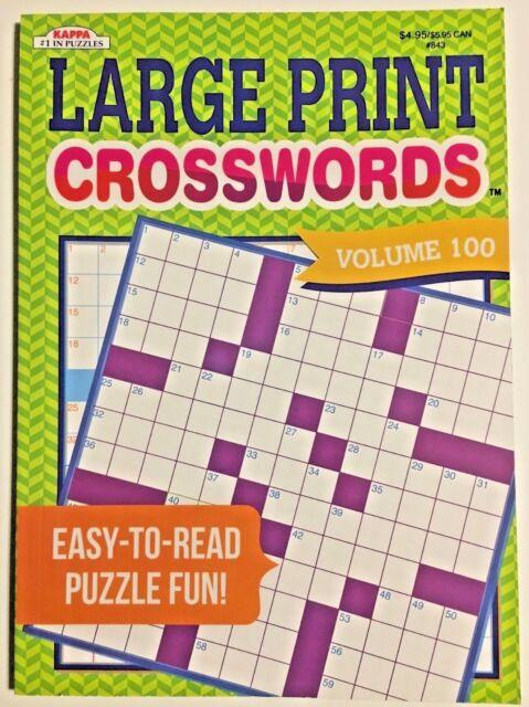 Kappa Large Print Crosswords Puzzles Volume 100