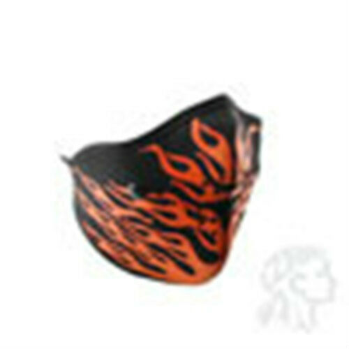 Neo-X Xtreme HALF Neoprene Face Mask with Filter Red Orange Flames ATV Motorcyle