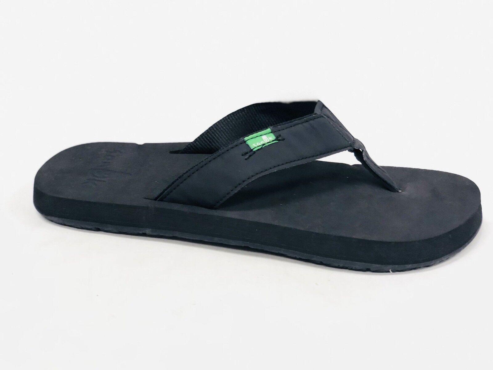 2cf60d8cc89e Sanuk Men s LONGITUDE BLACKOUT BLACKOUT BLACKOUT Casual Flip Flop Slip On  Sandal SMF10614 YOGA MAT f4711d