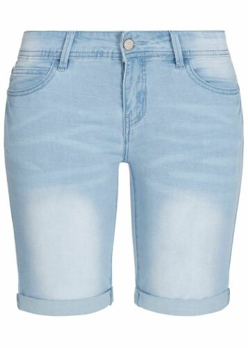34/% OFF B19059098 Damen 77 Lifestyle Shorts Midi Jeans Shorts 5-Pockets hellblau