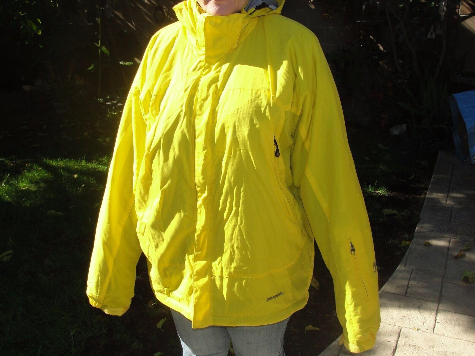 XL férfi PARIGONIA JACKET kabát héj meleg kültéri sárga hótakaró sífutás