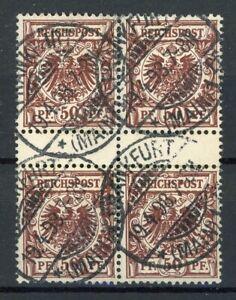 Deutsches-Reich-4er-Block-MiNr-50-da-ZS-gestempelt-geprueft-Zenker-H025