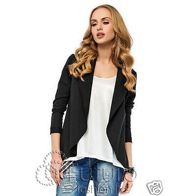 Casual Blazer Long Sleeve Jacket Shrug Bolero Office Suit Sizes 8-16 FA426