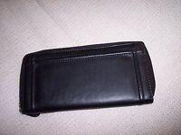 Rolfs Zip Around Wallet Black Exterior, Black Interior