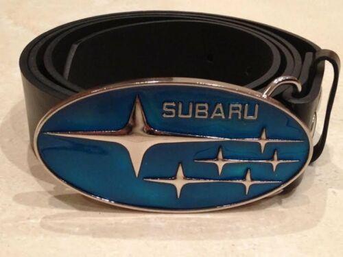 SUBARU logo metal BUCKLE with FREE Belt impreza rally car racing motorsports NEW