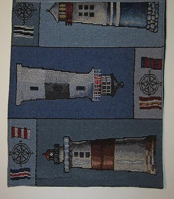 Windham Home Lighthouse Patchwork Tapestry Table Runner 13x72