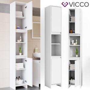 VICCO mobile bagno EMMA bianco - mobile alto mensola bagno