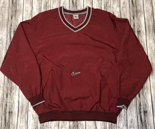 Vintage 90s Nike Swoosh Windbreaker Red Maroon V N