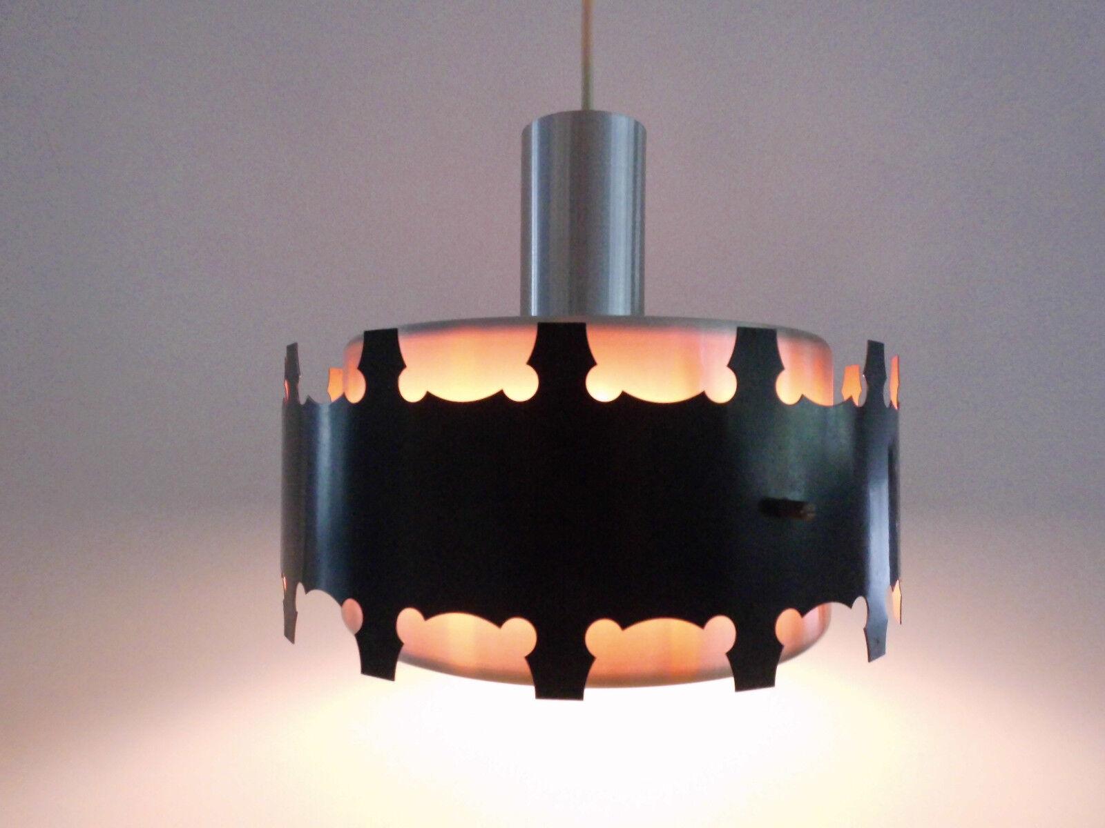 70er Lampe Danish Design Pendelleuchte Hängelampe Gold schwarz Fog Morup Ära