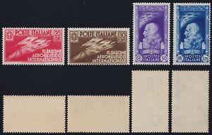 Regno 1935 - 1° Salone Aeronautico 4 valori nuova MNH** gomma integra
