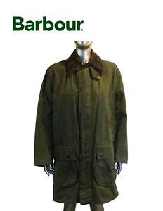 Vintage-Hombres-Verde-Barbour-A200-Borde-Chaqueta