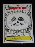 GARBAGE PAIL KIDS - 2012 Brand New Series 1 - Layron DeJarnette SKETCH Card BNS1