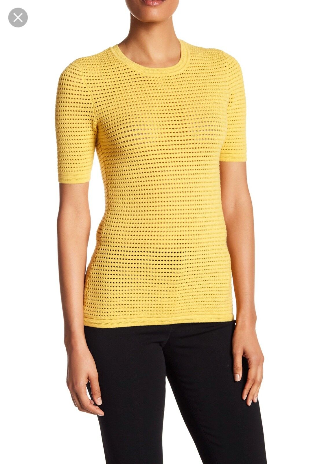 NWT Yigal azroule Waffle Knit Top