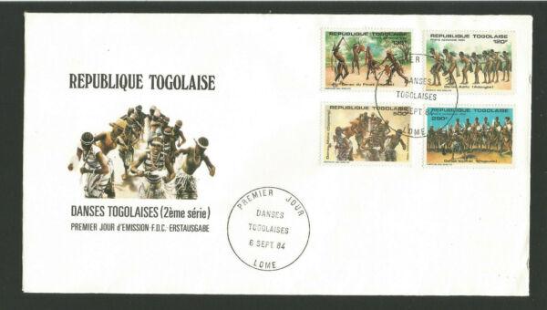 Fdc 1er Jour République Togolaise 1984 Danses Togolaises /fdco65 Avoir Un Style National Unique