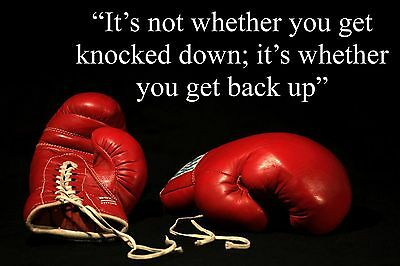 BOXING INSPIRATIONAL / MOTIVATIONAL QUOTE POSTER / PRINT / PICTURE FANTASTIC (10