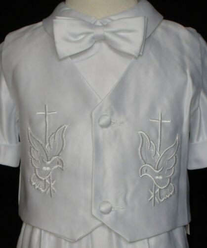 2T-4T 0M-36M+ Baby Boy Communion Christening Baptism Outfit Suit size XS-XL