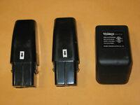 2 Brand Battery & 1 Charger For Swivel Sweeper G1 & G2 Usa Seller