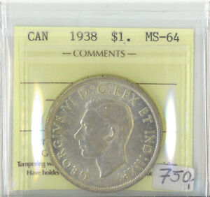 Canada-1938-One-Dollar-ICCS-Certified-MS-64-XTG-828