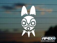 Princess Mononokee Mask - Ghibli Inspired Anime Vinyl Sticker DS-VN-AN-00011
