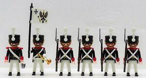 Prusse Garde Soldats Officier Drapeau Playmobil À Hussard Prussien Contre