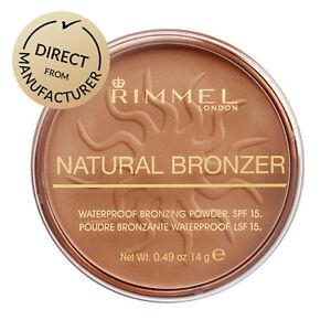 Rimmel London Pressed Bronzer Waterproof Face Powder Natural - Various colours