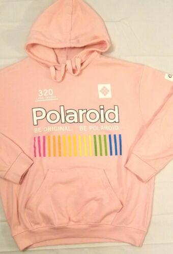 Polaroid Original Logo Pink Hoodie Hooded Sweatshi