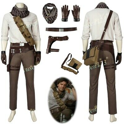 Star Wars The Rise Of Skywalker Poe Dameron Costume Halloween Cosplay Comic Con Ebay