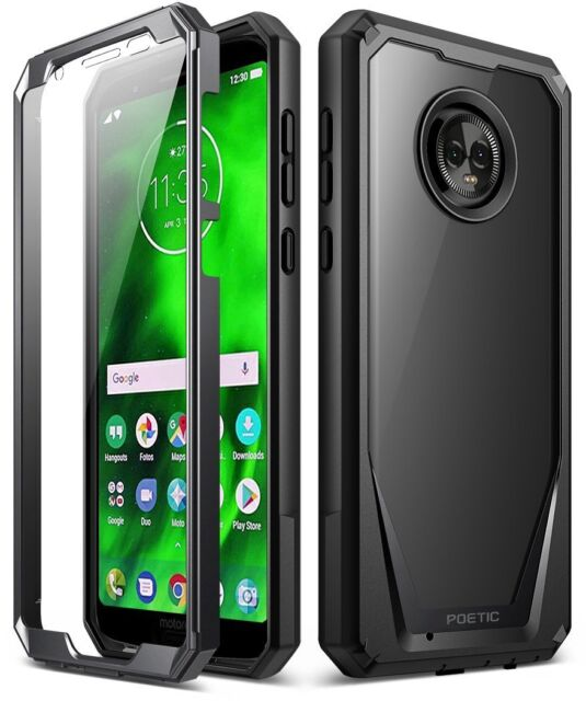 best service fbe71 1de78 Moto G6 Case Poetic Guardian Scratch Resistant Back 360 Degree Black