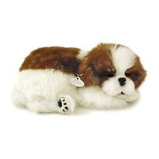 PERFECT PETZZZ SHIH TZU PLUSH PUPPY BREATHING HUGGABLE ANIMAL DOG REAL PET SOFT