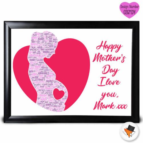 Personnalisé cœur couleur Cadeau Mères Jour Cadeau Mum Maman Nan Anniversaire