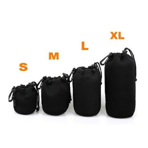 Neoprene Camera Lens Pouch Soft Bag Case Protector For Canon Nikon Sony DSLR
