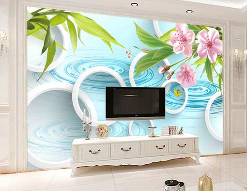 3D Petal Circles Sea 7 Wall Paper Murals Wall Print Wall Wallpaper Mural AU Kyra