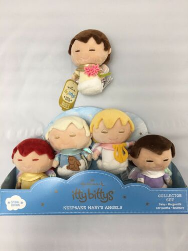 Hallmark Mary's Angels Itty Bittys Special Ed Box Set Of 4 + 30th Ann. Angel