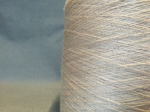 QUALITY YARN CONE SINGLE PLY LINEN NATURAL COLOUR 900g 18 BALLS