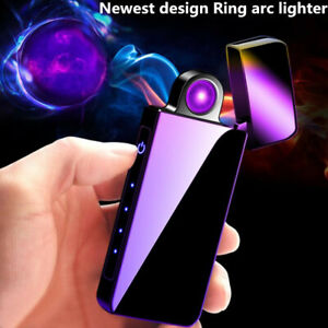 New-Windproof-Plasma-Electronic-lighter-USB-charge-rotate-arc-Cigarette-lighter