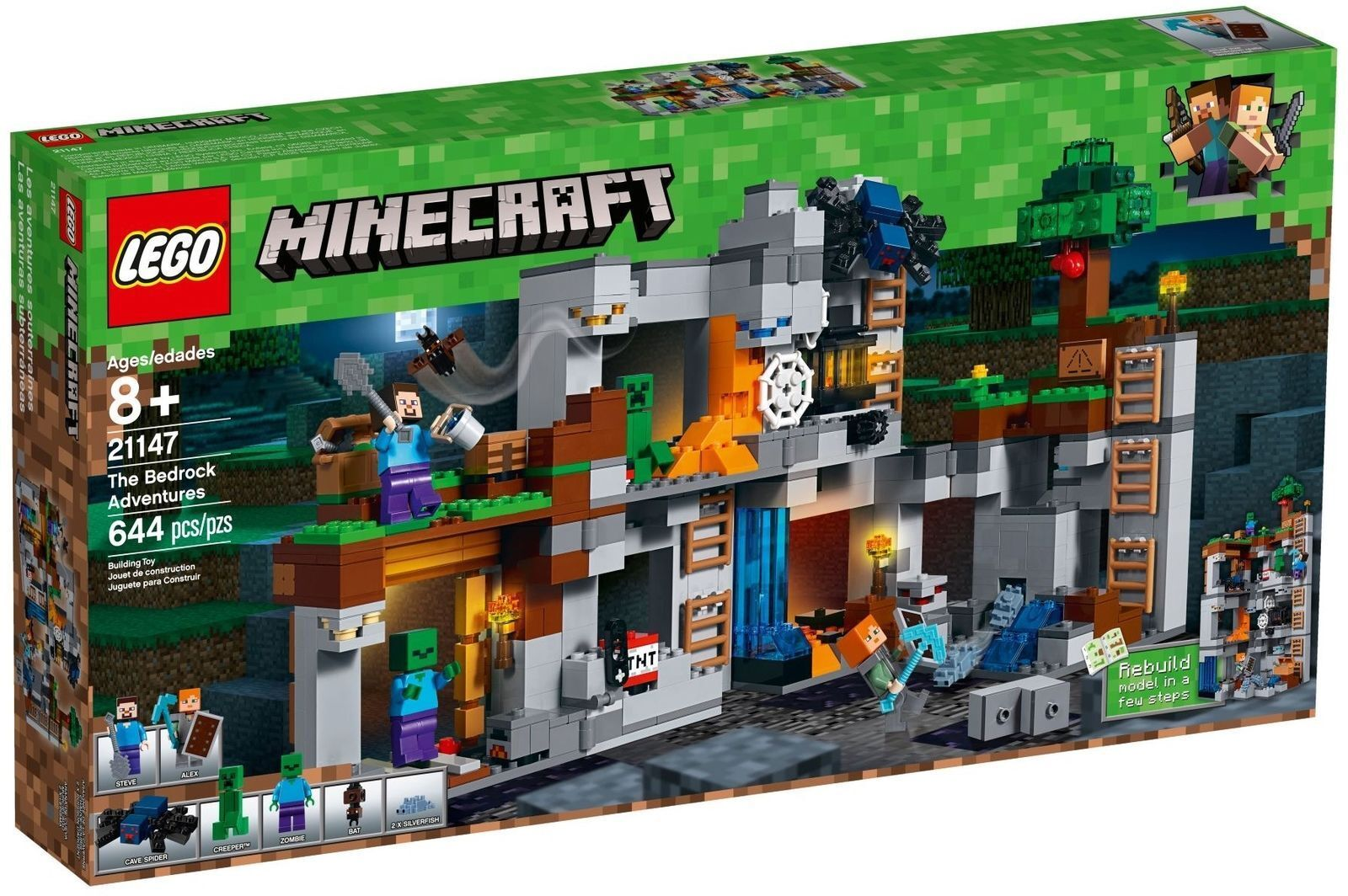 LEGO PER COLLEZIONISTI MINECRAFT 21147 AVVENTURE CON LA BEDROCK   NUOVO